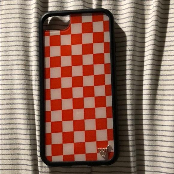 innovative design f73c4 0e3d5 Red checkered case - iPhone 6/7/8 wildflower case